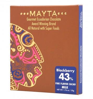 Млечен гурме шоколад 43% - Blackberry - 50 г