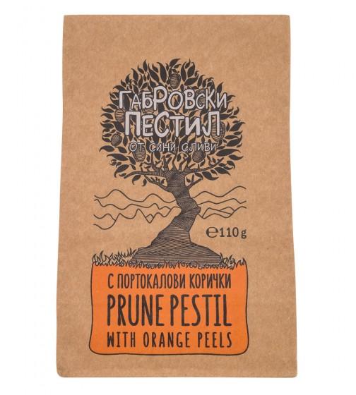 Габровски пестил от сини сливи - портокалови кори - 110 г, Габровски пестил,  110 г