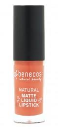 Течно червило с матов ефект Coral Kiss - био - 5 мл, Benecos,  5 мл
