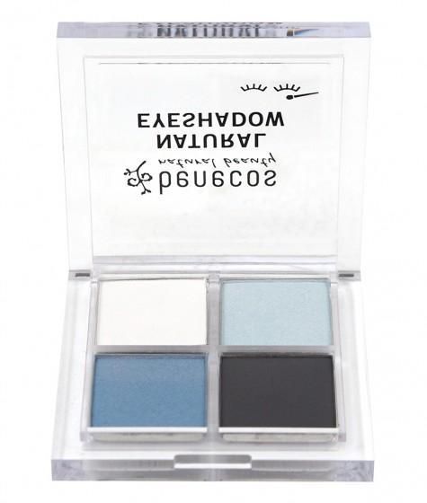 Сенки за очи 4 цвята - True blue - 4.8 г, Benecos,  1 бр