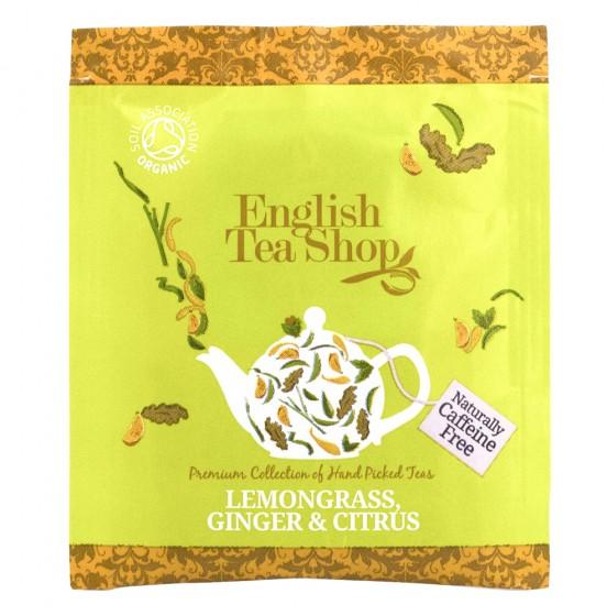 Органичен чай с лимонова трева, джинджифил и цитрус - 1 бр