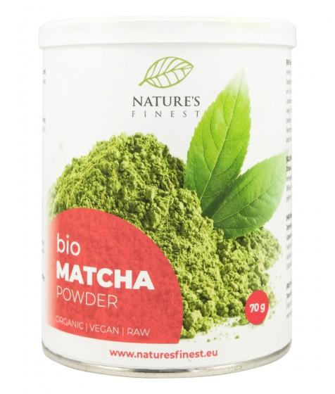 Зелен чай матча на прах - органичен - 70 г, Nutrisslim,  70 г