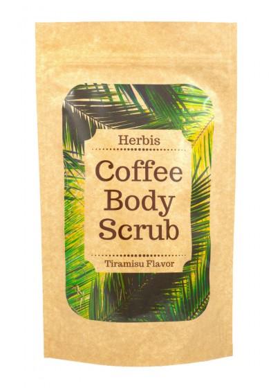 Натурален пилинг за лице и тяло - Кафе, Herbis,  200 г