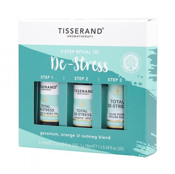 """Комбинация етерични масла """"Без стрес"""" - 3 бр., Tisserand® Aromatherapy,  1 бр"""