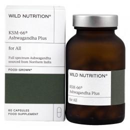 Комплекс Ашваганда плюс KSM-66® - 60 капсули, Wild Nutrition,  60 бр
