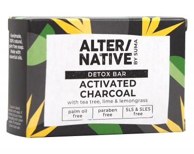 Натурален детокс сапун с активен въглен - 95 г