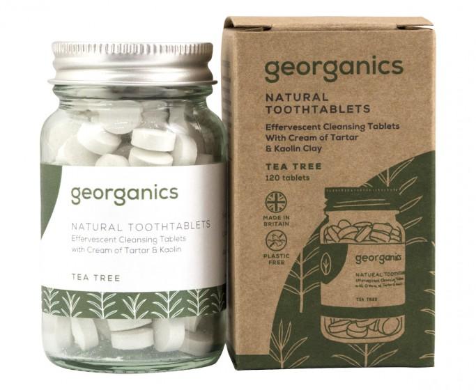 "Таблетки за почистване на зъбите ""Чаено дърво"" - 120 бр, Georganics,  120 бр"