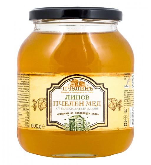 Липов пчелен мед - 900 г, Пчелинъ,  900 г