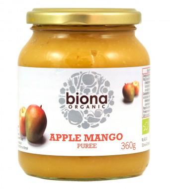 Пюре от ябълки и манго - био - 360 г
