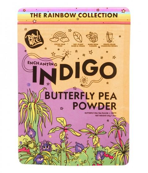 Цветове от пеперуден грах (син чай) на прах - 50 г, Rawnice,  50 г