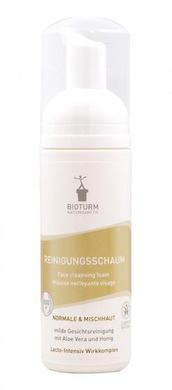 Почистваща пяна за лице - нормална и комбинирана кожа - 150 мл, Bioturm,  150 мл