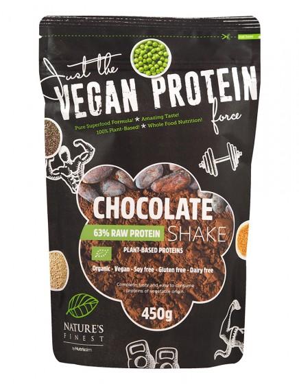Растителен микс за протеинов шейк Шоколад - био - 450 г, Nutrisslim,  450 г
