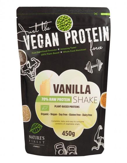 Растителен микс за протеинов шейк Ванилия - био - 450 г, Nutrisslim,  450 г