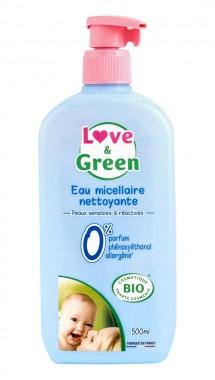 Почистваща мицеларна вода за бебета - био - 500 мл