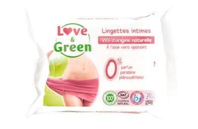 Feminine wet wipes - biodegradable - 20 wipes