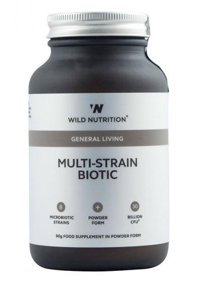 Пробиотици на прах за възрастни - 8 щама - 90 г, Wild Nutrition,  90 г