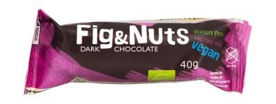 Десерт с тъмен шоколад Смокини и ядки - био - 40 г