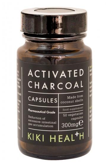 Активен въглен на прах 300mg - 50 капсули, Kiki Health,  50 бр