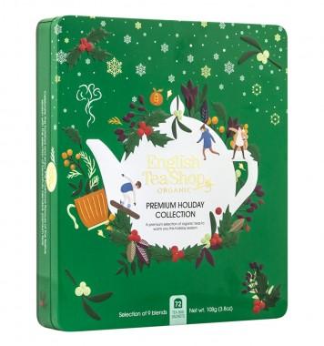 Празнична колекция био чай - Premium Green Tin - 72 пакетчета