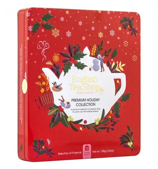 Празнична колекция био чай - Premium Red Tin - 72 пакетчета, English tea shop,  1 бр
