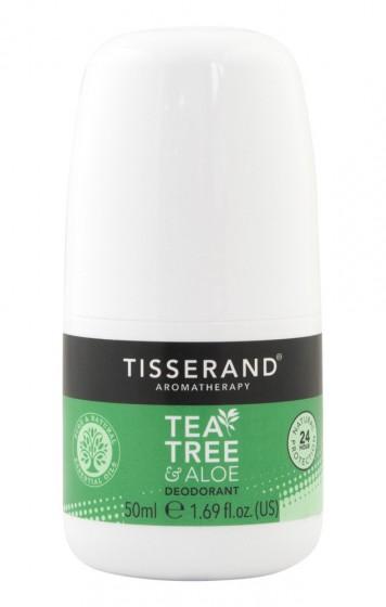 "Рол-он дезодорант ""Чаено дърво и алое"" - 50 мл, Tisserand® Aromatherapy,  50 мл"