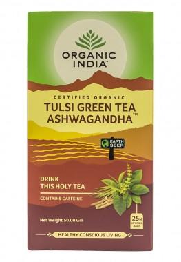 Чай Тулси, зелен чай и ашваганда - био - 25 бр