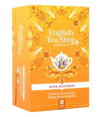 Чай с подправки Куркума, джинджифил и лим. трева - био - 20 пакетчета