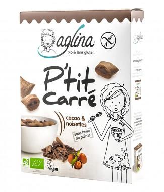 Безглутенова зърнена закуска с пълнеж Какао и лешник - био - 300 г