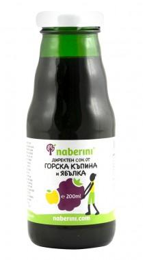 Сок от горска къпина и ябълка - 200 мл