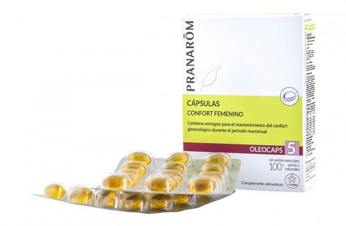 Капсули с растителни масла Гинекологичен комфорт Oleocaps 5 , Pranarom,  30 бр