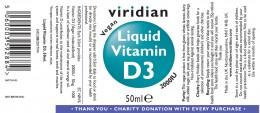 Витамин D3 2000 IU капки - 50 мл