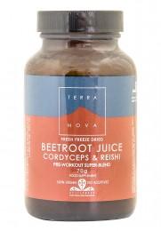 Beetroot Juice Cordyceps & Reishi Pre Workout Super-Blend - 70g, Terra Nova,  70 g