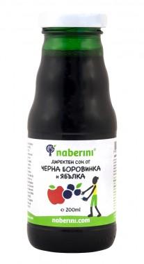 Сок от черна боровинка и ябълка - 200 мл