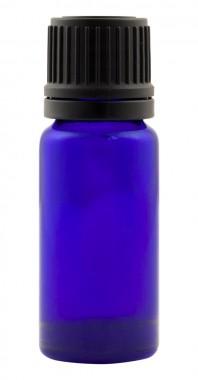 Виолетова стъклена малка бутилка с капкомер