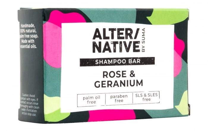 """Твърд шампоан за коса и тяло """"Гераниум"""" - 95 г, Suma,  95 г"""