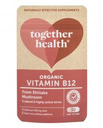 Витамин B12 от гъби шийтаке - био - 30 капсули, Together Health,  30 бр