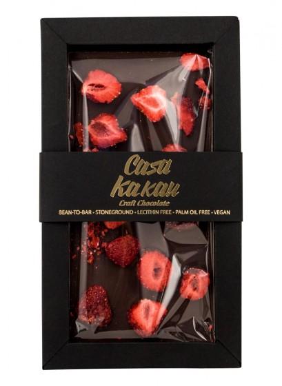 Занаятчийски шоколад с ягоди - 70 г, Casa Kakau,  70 г