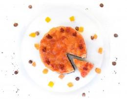 Торта с папая и рожков - 8 / 12 парчета, Сладкарски цех Зоя,  8 бр,  12 бр