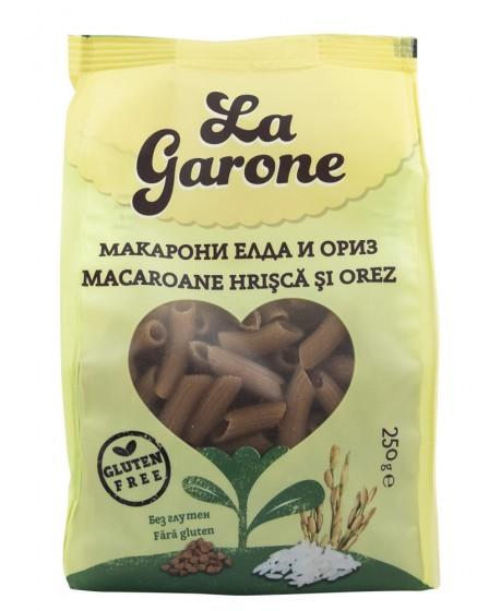 Макарони Елда и ориз - без глутен - 250 г, La Garone,  250 г