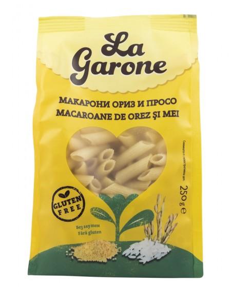 Макарони Ориз и просо - без глутен - 250 г, La Garone,  250 г