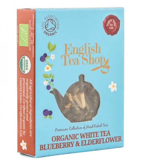 Органичен бял чай с боровинка и бъз – 2 г,  2 г