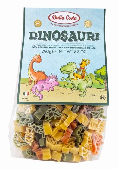 Трицветни макарони Динозаври, Dalla Costa,  250 г