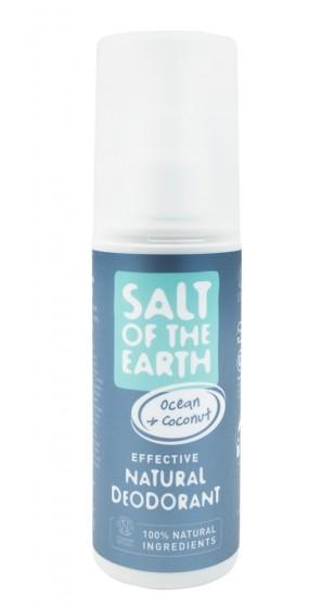 "Кристален спрей дезодорант ""Ocean + Coconut"", Salt of the Earth,  100 мл"