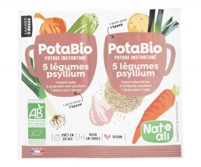 Разтворима супа 5 зеленчука и хуск - био