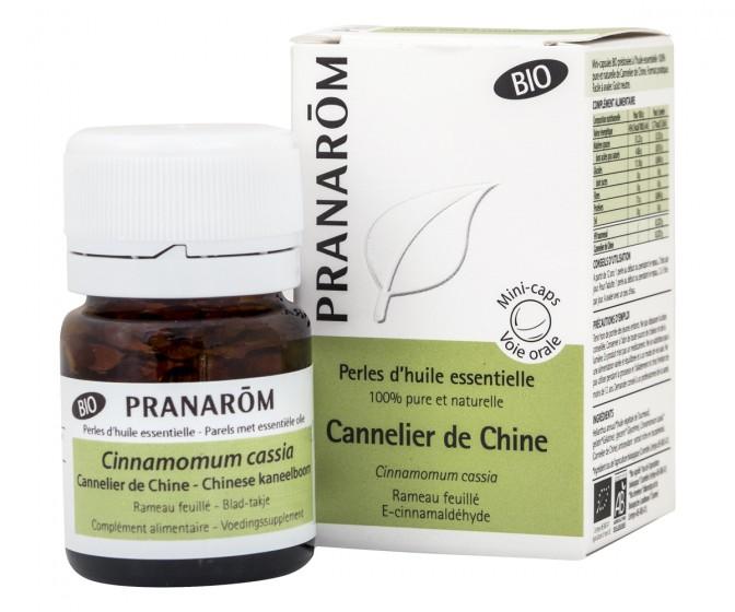 Перли с етерично масло - Китайска канела - био, Pranarom,  60 бр