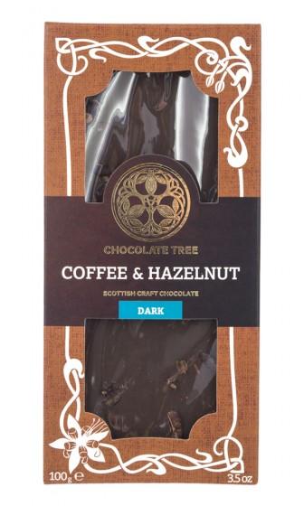 Dark Artisanal Chocolate Coffee & Hazelnut - organic, Chocolate Tree,  100 g