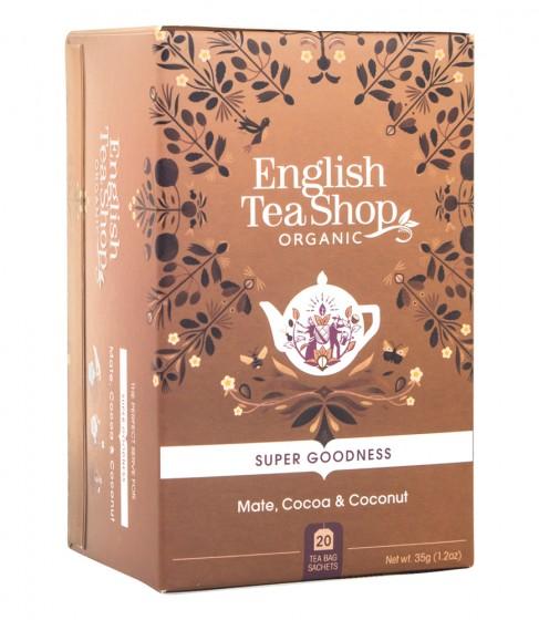 Чай Мате с какао и кокос - био, English tea shop,  20 бр