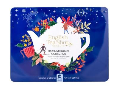 "Коледна колекция чай ""Premium Dark Blue Tin Collection"" - био"