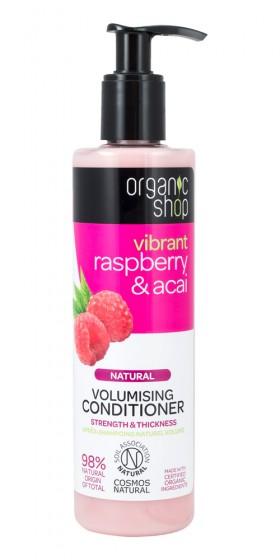 Балсам за коса за обем Малина и асай, Organic Shop,  280 мл