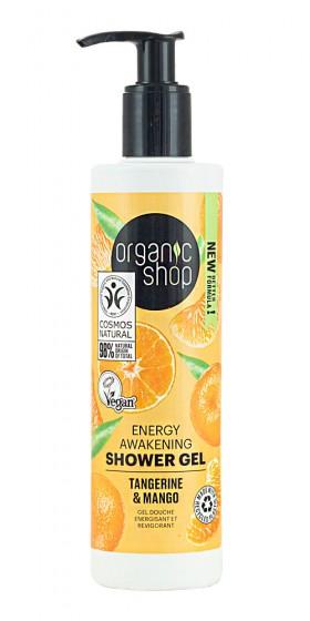 Енергизиращ душ-гел Мандарина и манго, Organic Shop,  280 мл